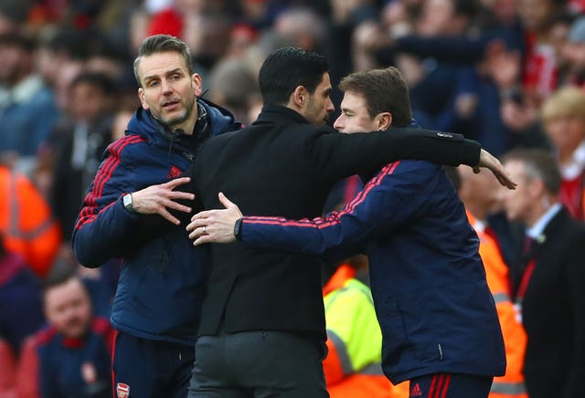 Arsenal manager Mikel Arteta puts plenty of faith in goalkeeper coach Inaki Cana (right) to find potential new signings.