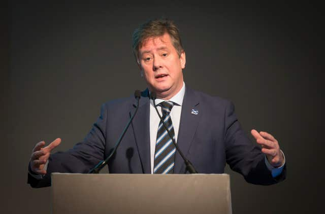Economy Secretary Keith Brown praised Scottish economic resilience (Danny Lawson/PA)