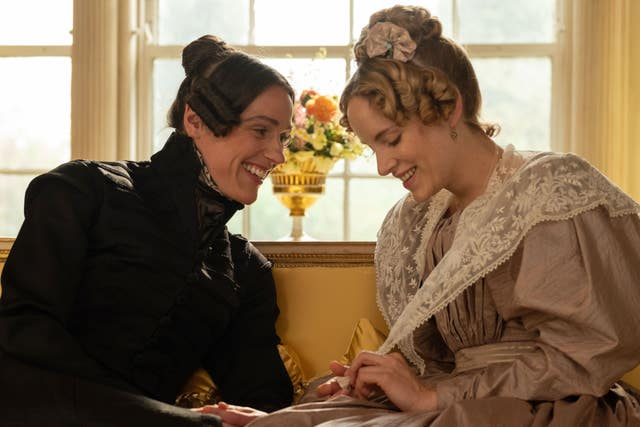 Jones as Lister (left) and Sophie Rundle as Ann Walker in Gentleman Jack (Matt Squire/BBC)