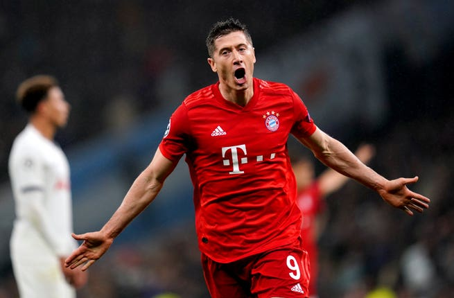 Robert Lewandowski is suspended for Bayern Munich's game against Borussia Monchengladbach (John Walton/PA)