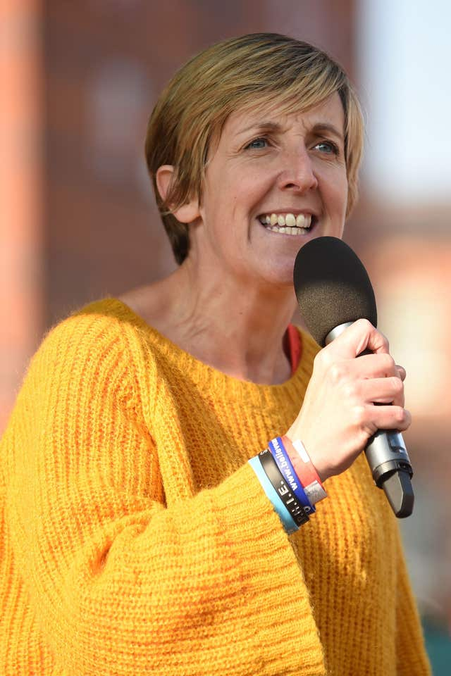 Actress Julie Hesmondhalgh (Joe Giddens/PA)