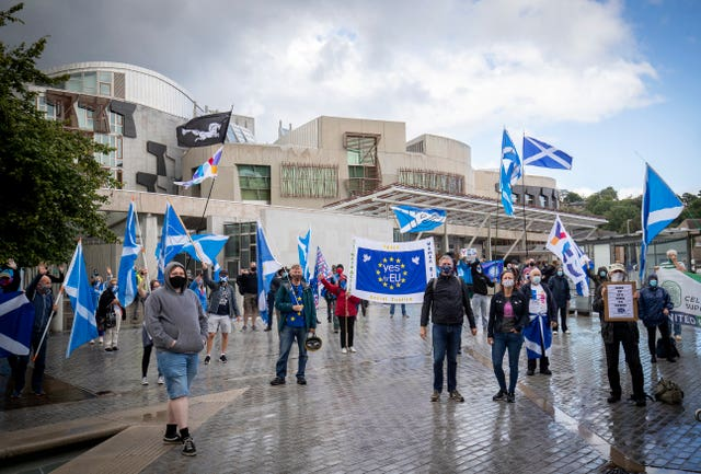 Scottish independence demonstration