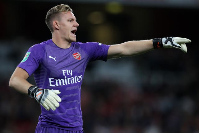 1e9168061 Bernd Leno will continue in goal for the Gunners (Nick Potts PA)