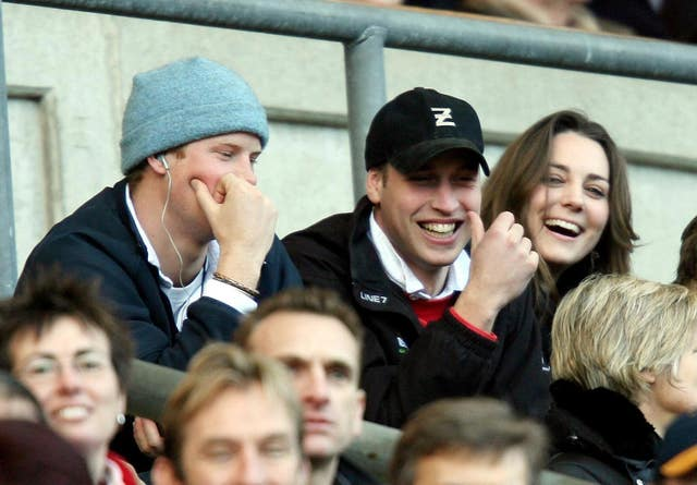 William and Kate at rugby