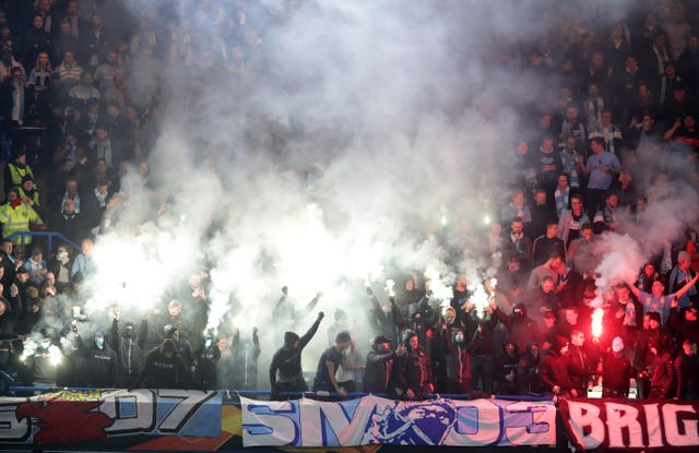 Malmo's passionate travelling fans drowned out the home support