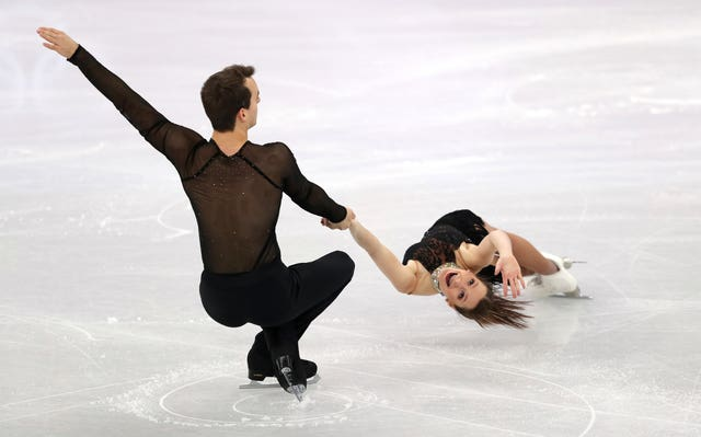 Annika Hocke and Ruben Blommaert of Germany compete in the pairs figures skating at the Gangneung Ice Arena during day five of the PyeongChang 2018 Winter Olympics. Compatriots Aliona Savchenko and Bruno Massot became Olympic champions after finishing fourth in the short program and setting a record with their score in the free program