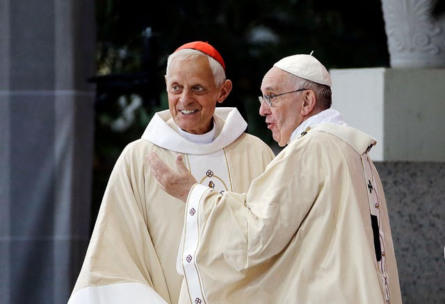Donald Wuerl and Pope Francis