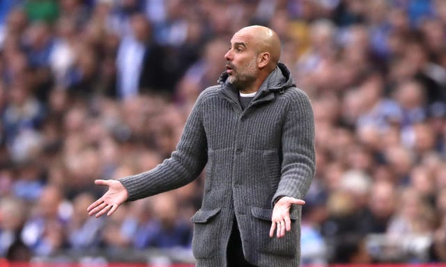 Manchester City boss Guardiola has played down quadruple talk