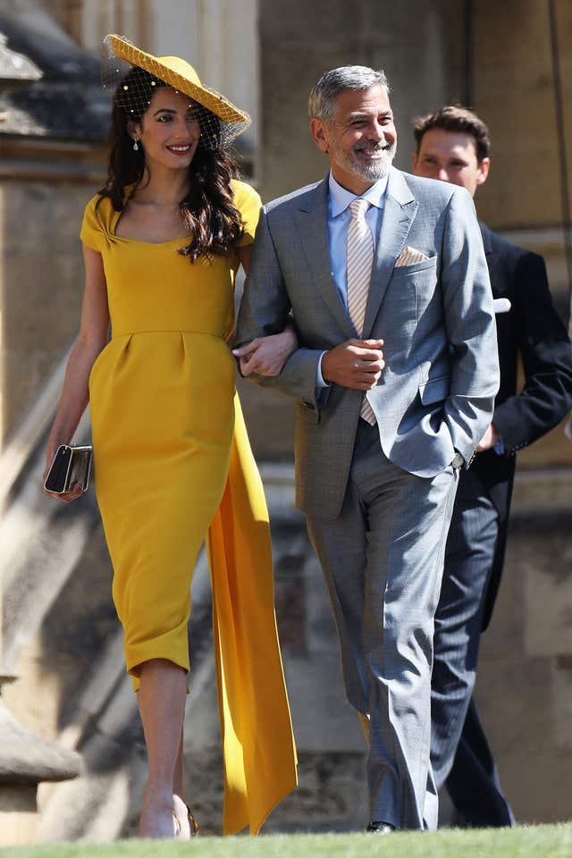 Amal Clooney and George Clooney (PA)