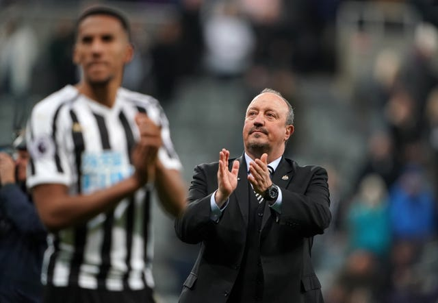 Rafael Benitez had the support of his players