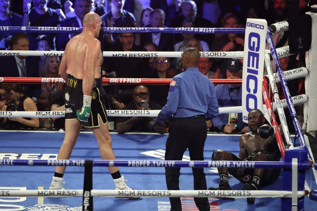 Tyson Fury, left, defeated Deontay Wilder in February (Bradley Collyer/PA)
