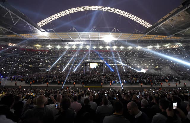 Tens of thousands of fans packed Wembley