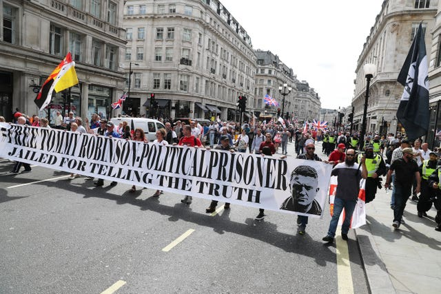 Tommy Robinson protests