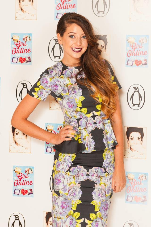 YouTube star Zoe Sugg, aka Zoella (Dominic Lipinski/PA)