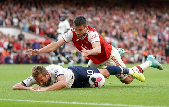 The striker was accused of diving in the north London derby last weekend