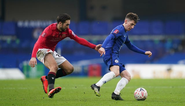 Billy Gilmour (right) is in regular first-team contention