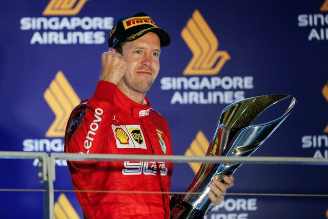Sebastian Vettel (pictured) claimed his first victory since August 2018 as he triumphed at the Singapore Grand Prix on Sunday