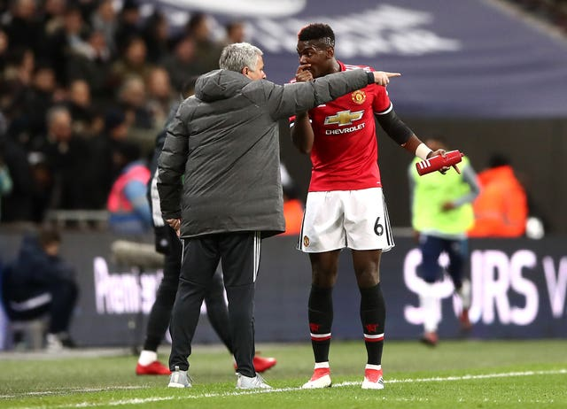 Mourinho and Pogba had a heated touchline exchange against Tottenham at Wembley
