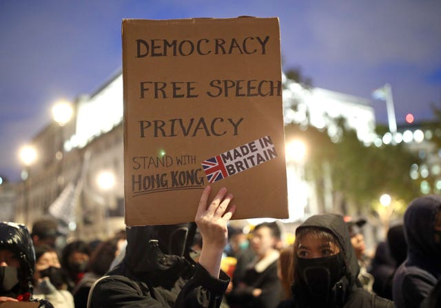 Hong Kong Democracy Protest Trafalgar Square London