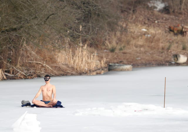Czech Republic Under Ice Swimming Record