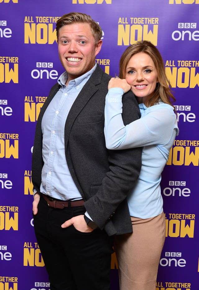 Rob Beckett and Geri Horner
