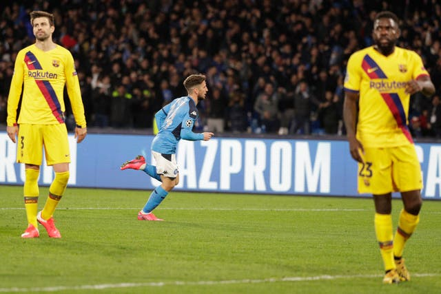 Dries Mertens scored a well-taken goal to put the Italians in front