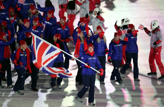 Lizzy Yarnold leading Great Britain into the Winter Olympics opening ceremony