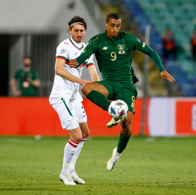 Teenager Adam Idah made his senior Republic of Ireland debut in Bulgaria
