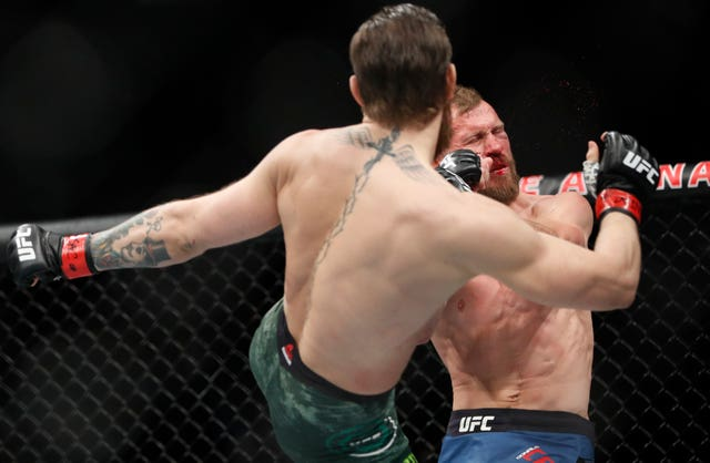 Conor McGregor's head kick was the beginning of the end for Donald Cerrone (John Locher/AP)