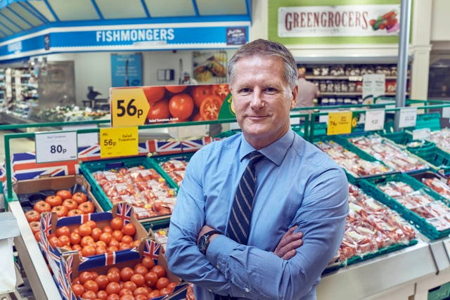 Morrisons boss David Potts in a store