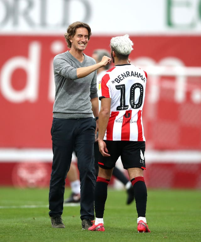Brentford head coach Thomas Frank has impressed since he stepped up from his role as assistant in October 2018