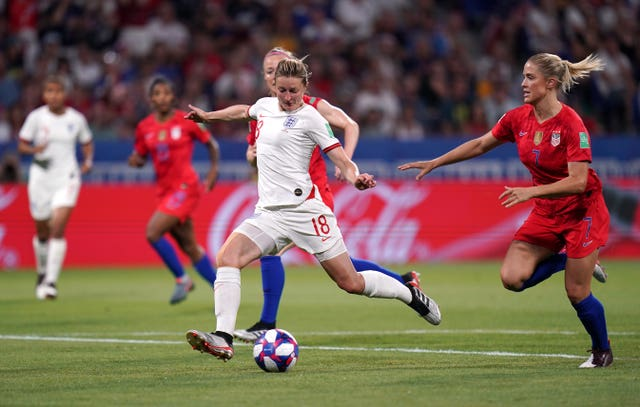 Ellen White thought she levelled for England once again with this finish