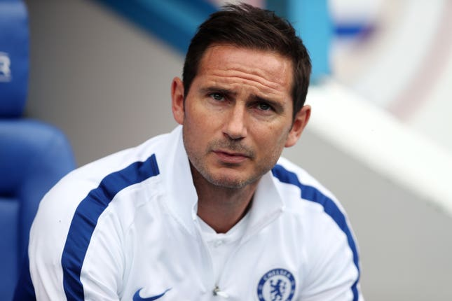 Frank Lampard is the new face in the Chelsea dugout