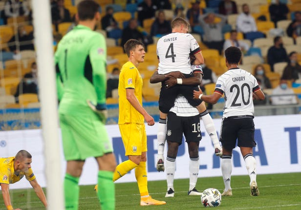 Defender Matthias Ginter scored the opening goal in Kyiv