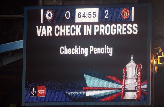 VAR has been used in recent seasons in both the FA Cup and Carabao Cup