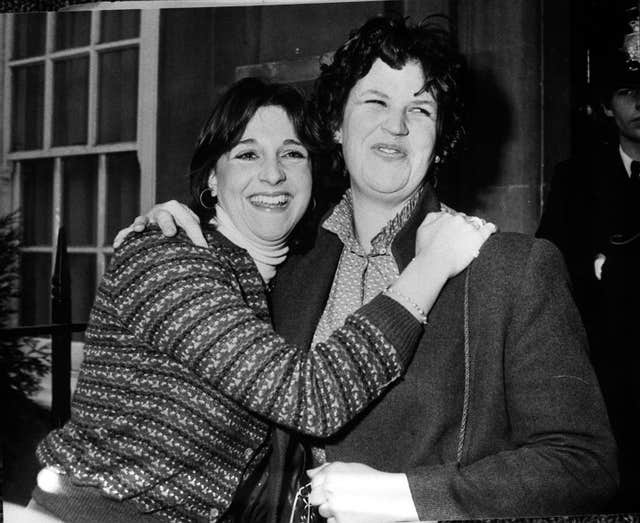 Diana's flatmates Carolyn Pride and Virginia Pitman