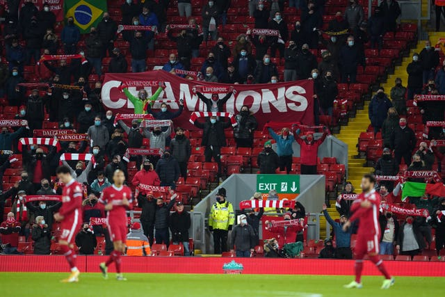Liverpool fans have been allowed into Anfield in recent weeks