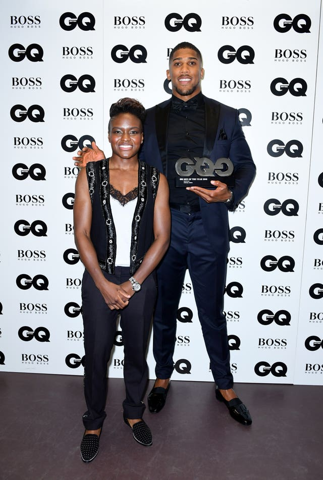 Nicola Adams and Anthony Joshua (Ian West/PA)
