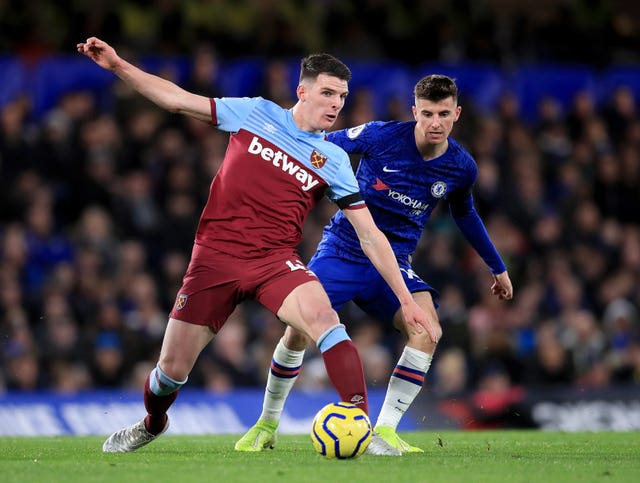 Declan Rice revealed how Mark Noble had inspired West Ham to beat Chelsea