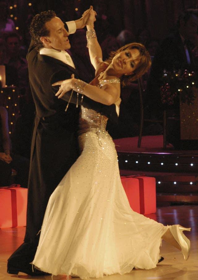 Natasha Kaplinsky and Brendan Cole (BBC/PA)