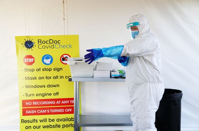 Coronavirus testing site at Dublin Airport