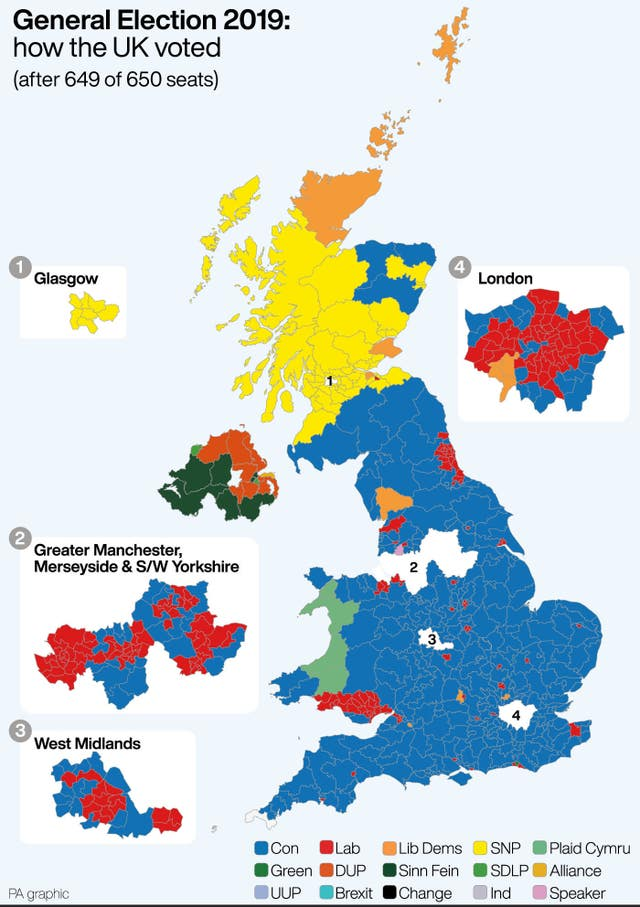 General Election 2019: how the UK voted after 649 of 650 seats