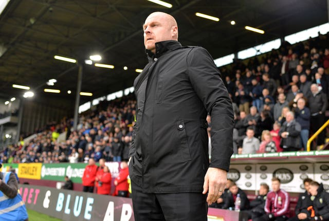 Burnley manager Sean Dyche has been keeping in touch with his staff and players from home