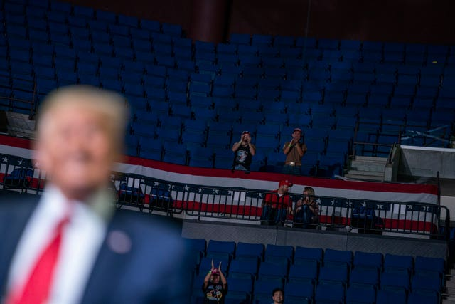 Trump left 'furious' after comeback rally has rows of empty seats ...
