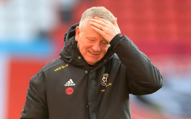 Chris Wilder's Blades are bottom of the Premier League