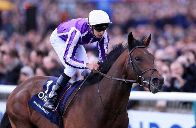 Qipco 2000 Guineas winner Magna Grecia will bid to follow up at the Curragh