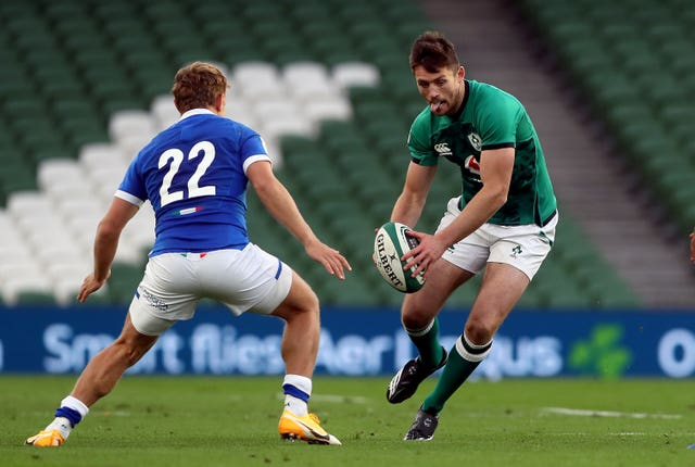 Ireland fly-half Ross Byrne, pictured, has been given the nod to replace injured captain Johnny Sexton against England