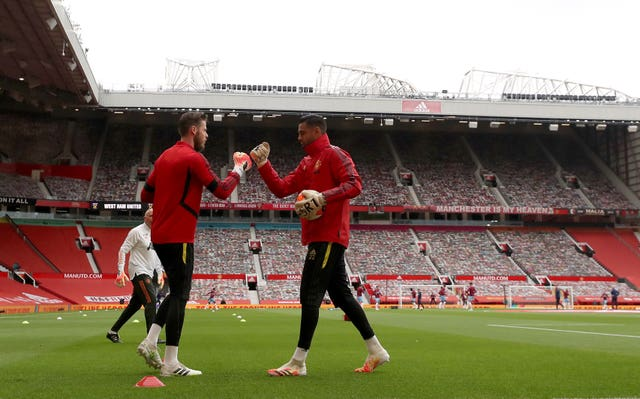 Sergio Romero, right, has been the back to David De Gea at Manchester United