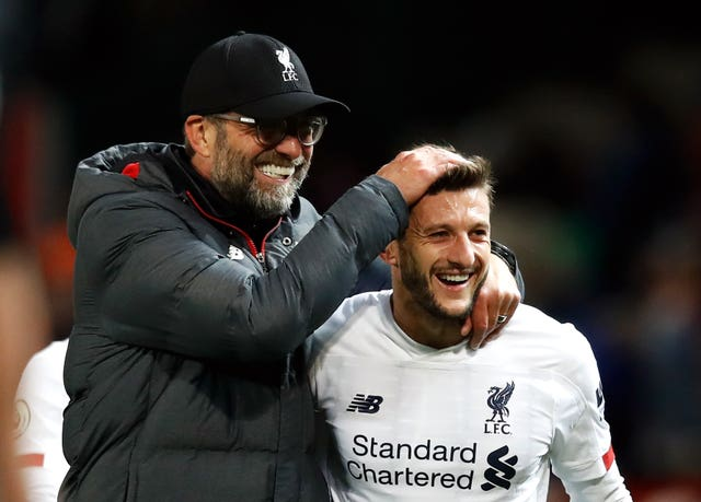 The Reds' unbeaten start was under severe threat until substitute Adam Lallana salvaged a 1-1 draw at bitter rivals Manchester United in October with an 85-minute equaliser at Old Trafford. The midfielder's late intervention was his first goal since May 2017