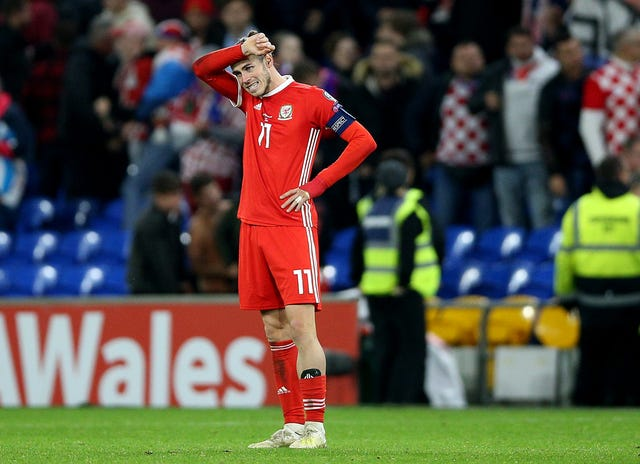 Gareth Bale was dejected at the final whistle despite earning Wales their point